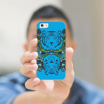 Tigers - Blue iPhone 5s case by Orna Artzi | Casetify
