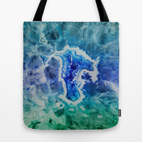 MINERAL MAZE Tote Bag by Catspaws | Society6
