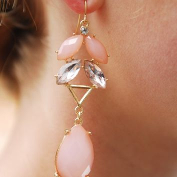Coral Girls Do It Best Earring - Lotus Boutique