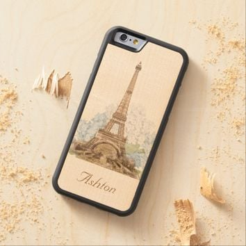 Paris Blue Hydrangeas Vintage Wood Phone Case