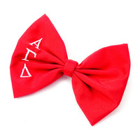 Alpha Gamma Delta Sorority Red Bow Hair Clip