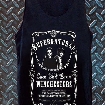 supernatural best customized design for Tank top Mens and Tank top Girls , sizes S - XXL