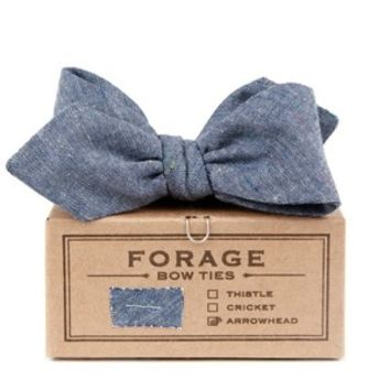 forage  harbor denim bow tie