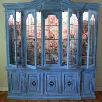 Blue  Vintage Drexel China Cabinet