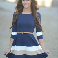 Annabella Dress - Navy - Navy