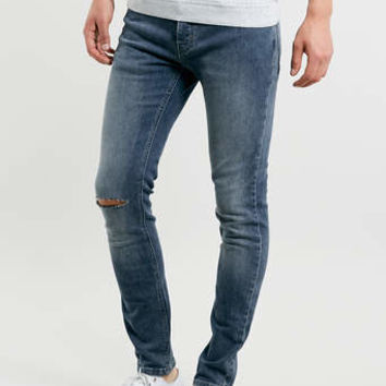 MID WASH RIPPED STRETCH SKINNY JEANS - Stretch Skinny Jeans - Stretch Skinny Jeans - Men's Jeans - Clothing