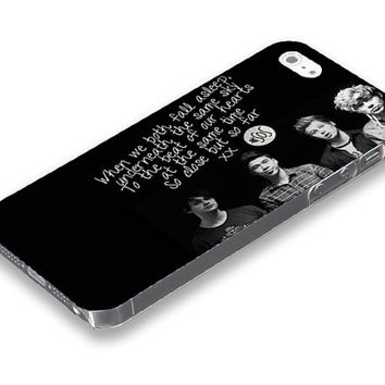 5seconds of summer, 5SOS Black and white iPhone 5 5S case, iPhone 4 4S case, Free shipping M-484