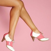 Rachel Antonoff High Heel Saddle Shoes in Pink | Pinup Girl Clothing