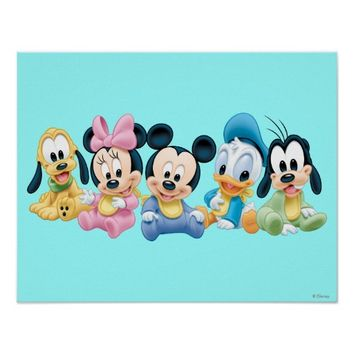 Baby Mickey Mouse and friends