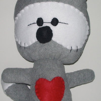 Large Gray Kawaii Raccoon Plushie on Luulla