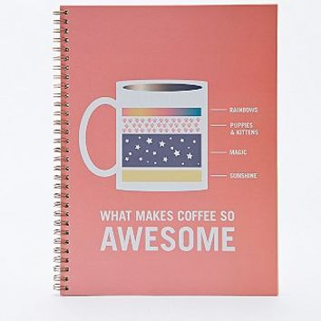 Awesome Coffee Notebook - Urban Outfitters