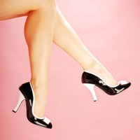 Smitten Pump in Black and White from Pinup Couture Shoes