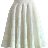 Daisy Romance Full Lace Midi Skirt White
