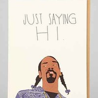 TayHam Snoop Just Sayin Hi Card - Urban Outfitters