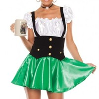 GREEN BLACK WHITE LAGER LASS COSTUME @ Amiclubwear costume Online Store,sexy costume,women's costume,christmas costumes,adult christmas costumes,santa claus costumes,fancy dress costumes,halloween costumes,halloween costume ideas,pirate costume,dance cos