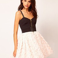 River Island Structured Dress With 3d Flowers at asos.com