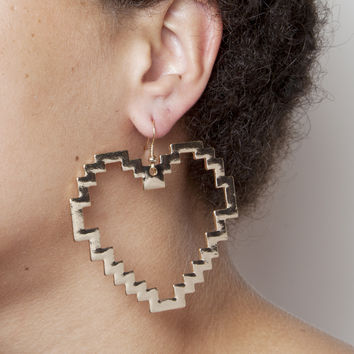 Jagged Heart Earrings | HOTTT.COM