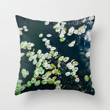 Lily Pads Throw Pillow by Pati Designs | Society6