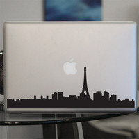 Paris Skyline Decal - Sticker - France , Car, Window, Laptops, Wall