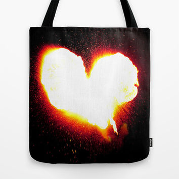 Heart of Fire Tote Bag by Legends of Darkness Photography