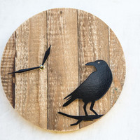 Palette wood wall clock Raven FREE WORLDWIDE SHIPPING