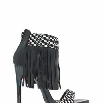 Fringe Party Patterned Heels