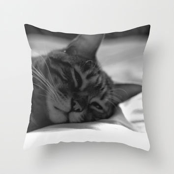Cat Naps Throw Pillow by Legends of Darkness Photography