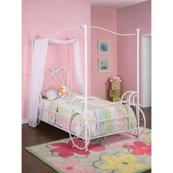Powell Princess Emily Carriage Canopy Twin Size Bed (includes Bed Frame)