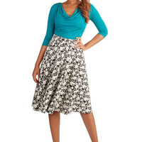 ModCloth Long Full Searching in the Stacks Skirt