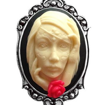 """""""Catrina"""" Cameo Necklace by Couture by Lolita (Black)"""