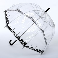 Clear & Black Paris Skyline Vision Umbrella