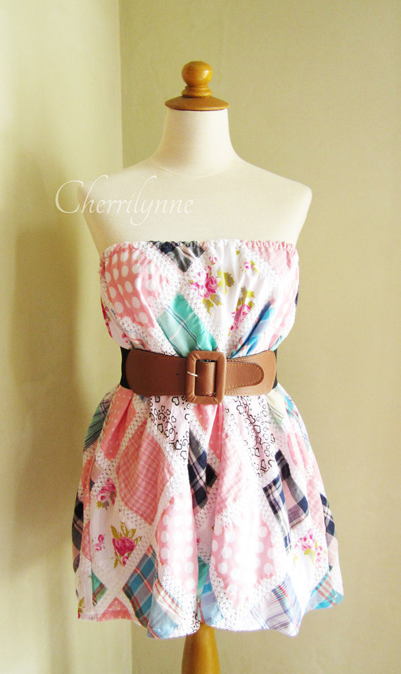Top / Skirt Pink Patchwork