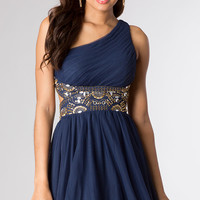 One Shoulder Short Homecoming Dress by Blondie Nites