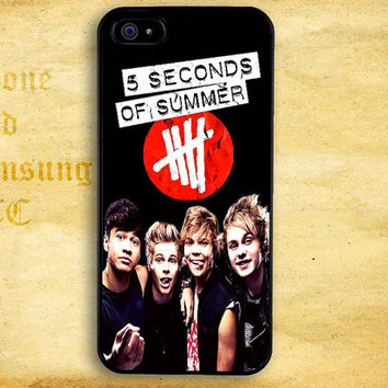 Five SOS Album Cover Design for iPhone  4 4s 5 5s 5c iPod 4 5 Touch and Samsung Galaxy s3 s4 s5 Case
