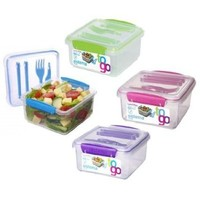 Sistema 21652 Klip It Lunch Plus To-Go Container (Assorted Colors Sold Separately)
