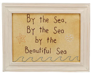 By The Beautiful Sea Stitchery Sign | OceanStyles.com