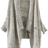 Heather Grey Shawl Cardigan - OASAP.com