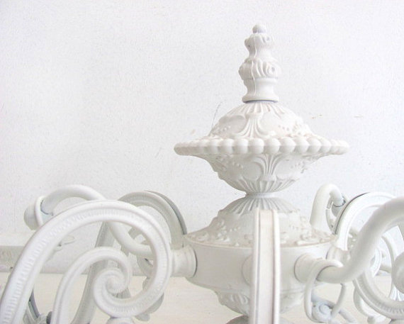 Antique White Chandelier Shabby Chic From NifticVintage On