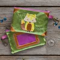 Fox  Vegan  Leather  ID  Pouch  From  Natural  Life