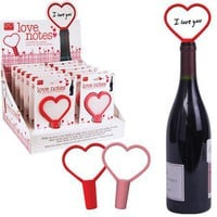 Love Notes - Re-usable Write-on Bottle Stoppers - Whimsical &amp; Unique Gift Ideas for the Coolest Gift Givers