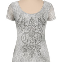 Maurices premium embellished lace tee