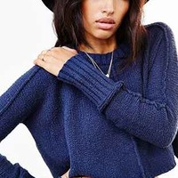 Silence + Noise Slub Cropped Sweater - Urban Outfitters