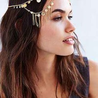 Coins + Chains Goddess Headwrap- Gold One Size- Gold One