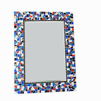 Custom Mosaic Wall Mirror - You Choose The Colors