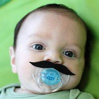 Mustache Boy Pacifier BLACK on Luulla
