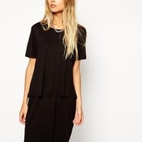 ASOS T-Shirt Dress with Overlay
