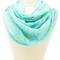 Lightweight Gold-Embellished Infinity Scarf