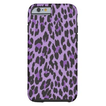 Animal , Spotted Leopard - Purple Black