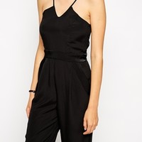 BCBGeneration Tailored Jumpsuit with Structured Insert