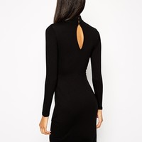 ASOS Asymmetric Polo Bodycon Dress